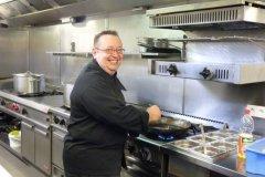 2013: Venue de Michael Richard, chef cuisinier à Lafayette, à Namur